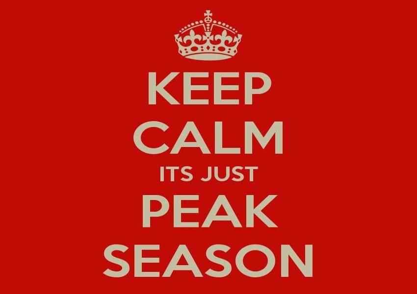 Keep Calm It's Just Peak Season